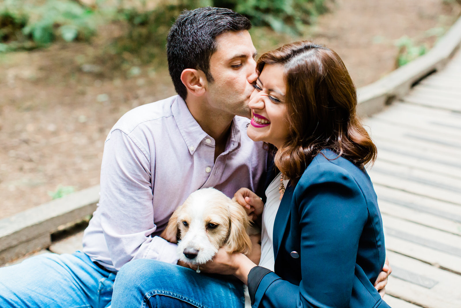 engagement portrait with pets