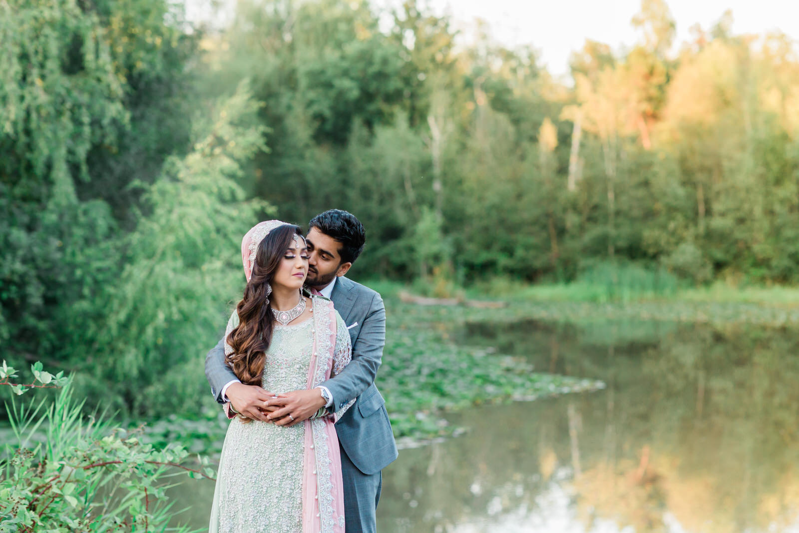 Summer garden wedding in BC