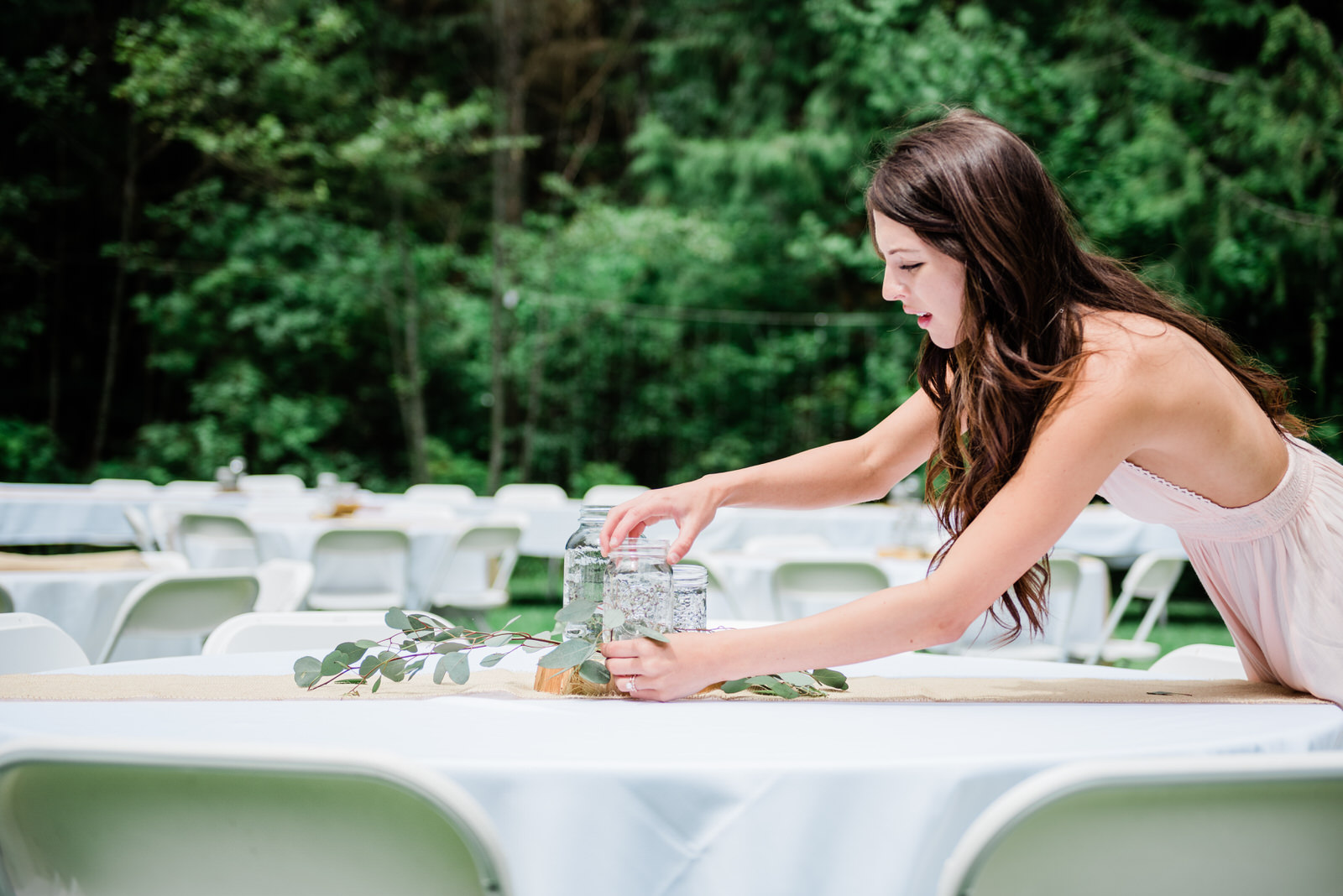 outdoor wedding reception & table settings