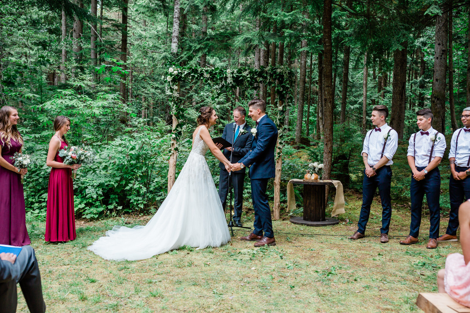 Forest wedding in Hope, B.C