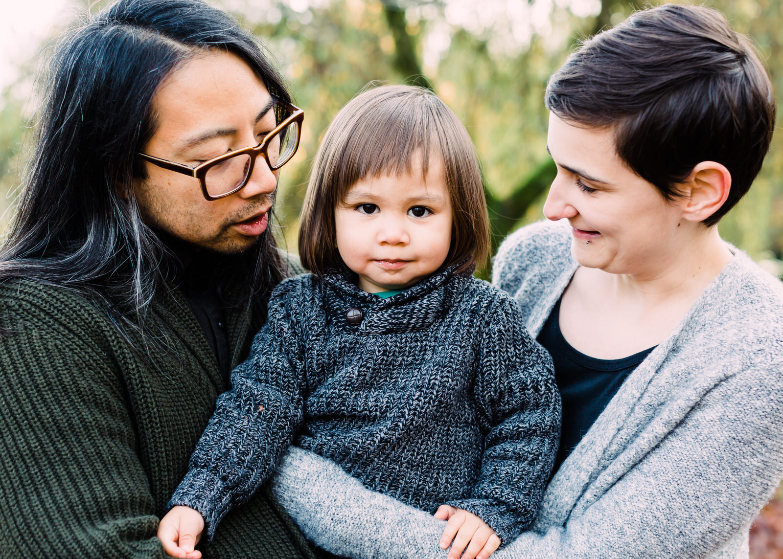 Outdoor family session in the Pacific Northwest