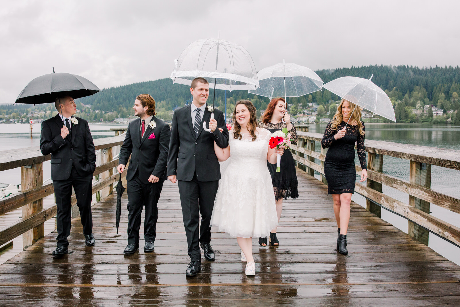 Rainy West Coast Wedding
