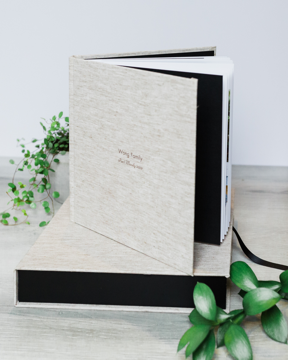 Hardcover family photo album