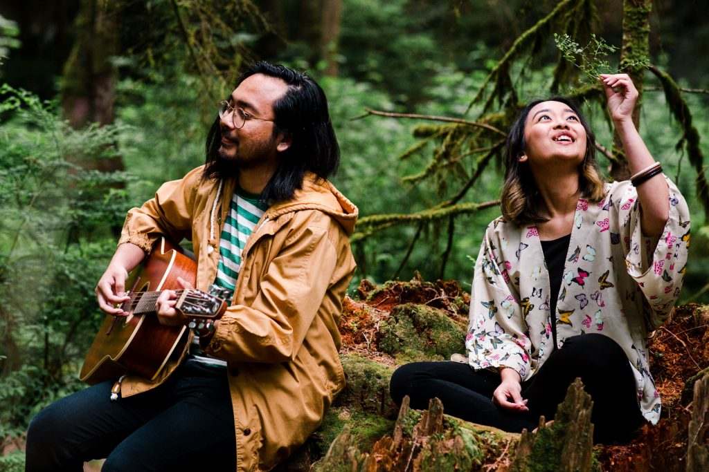 A brother and sister band branding session in North Vancouver